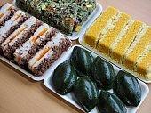 Korean food mochi cake, Mochi Castella,tteok, rice cake