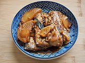 Korean food Stewed Cutlassfish soy sauce