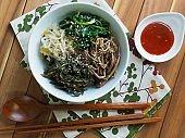 Korean food vegetable bibimbap