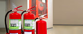 Red Red fire extinguishers tank