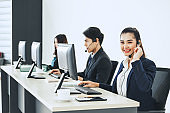 Asian call center team