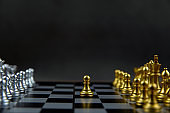 Chess that came out of the line Concept of leadership And business Strategic plan.