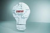 Strategy Light Bulb Puzzle pieces