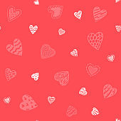 Seamless background hearts.