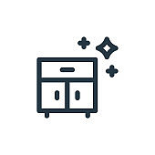 furniture vector icon. furniture editable stroke. furniture linear symbol for use on web and mobile apps, logo, print media. Thin line illustration. Vector isolated outline drawing.