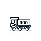 truck vector icon. truck editable stroke. truck linear symbol for use on web and mobile apps, logo, print media. Thin line illustration. Vector isolated outline drawing.