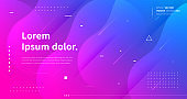 Colorful gradient background vector design. Futuristic backdrop. Geometric shapes composition. Modern landing page.