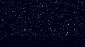 Night starry sky. Bright light of distant galaxies against blackness of space endless cosmic.