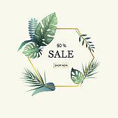 Sale in online shop advertisement.