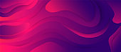 Futuristic colorful gradient purple and pink wave flow 3d background vector graphic illustration