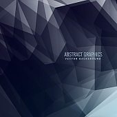 abstract dark background made with geometrical shapes