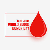 14th june world blood donor day concept poster design vector illustration