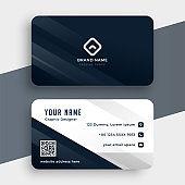 clean simple business card template modern design