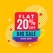 modern style big sale banner template design