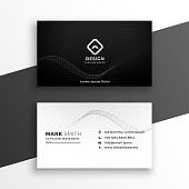 black and white elegant business card design template