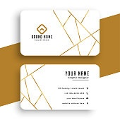 elegant white and gold business card template