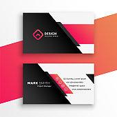 abstract geometric business card modern design template