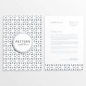elegant abstract pattern business shape letterhead template in creative style