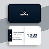 elegant simple black and white business card template