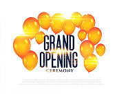 stylish grand opening balloons background