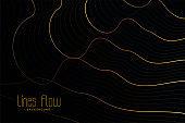 golden contour lines on black background