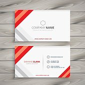 abstract modern business card illustration design template