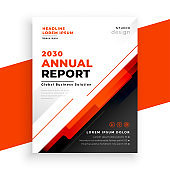 abstract annual report red brochure template vector design illustration