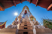 The temple's prang Phra Si Rattana Mahathat is a Buddhist temple (wat) Pagoda and major tourist attractions It is a major tourist attraction Phitsanulok,Thailand.