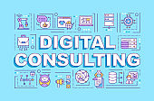 Digital consulting word concepts banner