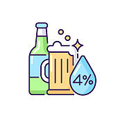 Alcohol RGB color icon