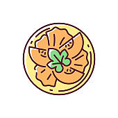 Pumpkin salad RGB color icon