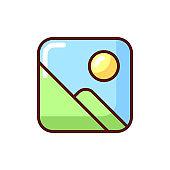 Photo gallery app RGB color icon