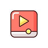 Video player app RGB color icon