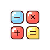 Calculator app RGB color icon