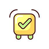 Alarm clock app RGB color icon