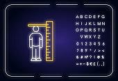 Height measurement neon light icon
