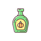 Pumpkin syrup RGB color icon