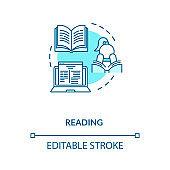 Reading concept icon