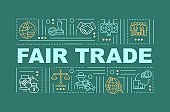 Fair trade policy word concepts banner