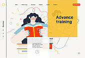 Business topics - advance training, web template