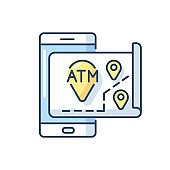 ATMs map RGB color icon