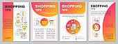 Shopping tips brochure template