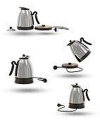 Electric kettle in modern shape.