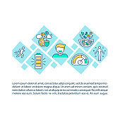 Vegetarian diet concept icon with text