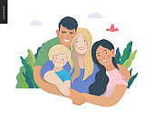 Happy family with kids -family health and wellness
