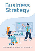 Business strategy poster template