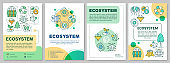 Ecosystem brochure template. Environmental conservation. Flyer, booklet, leaflet print, cover design with linear illustrations. Vector page layouts for magazines, annual reports, advertising posters