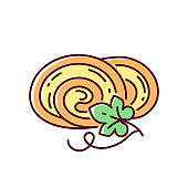 Pumpkin roll RGB color icon