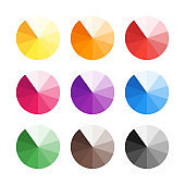 Flat color combinations on palette for your design.