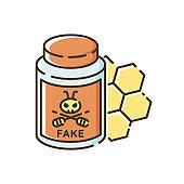 Fake honey RGB color icon